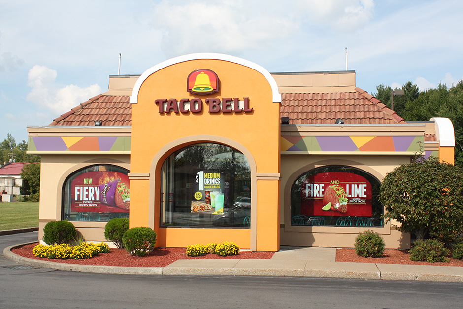 Taco Bell Storefront Wrap Unitech Applications Wrap